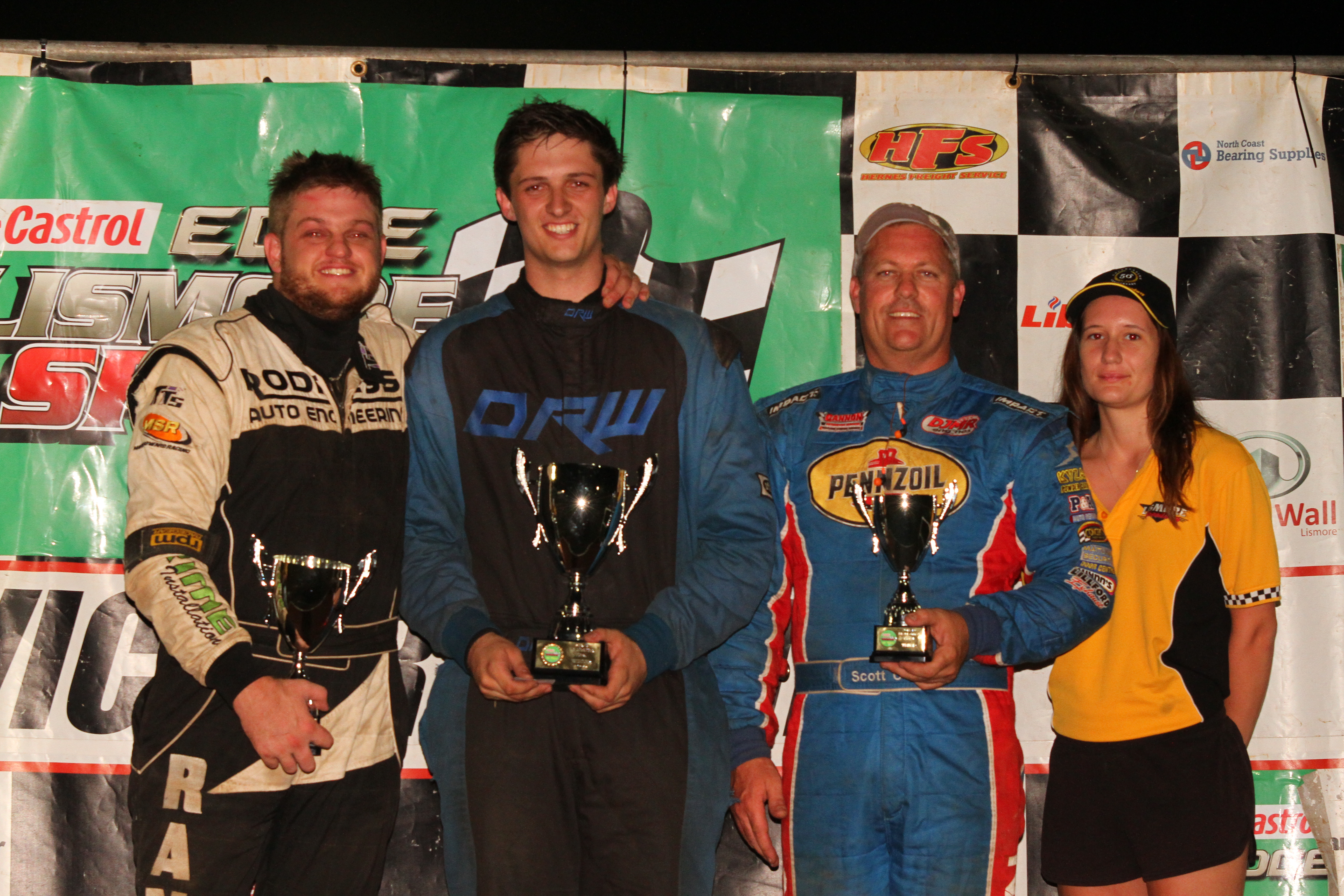 mr modified - Mitch Randall left Josh Rose and Scott Cannon - Stephenson crowned Mr Modified series champ