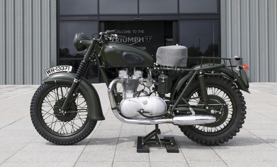 mcqueen bikes comes out of hiding - 1962 650cc TR6R - McQueen bikes comes out of hiding
