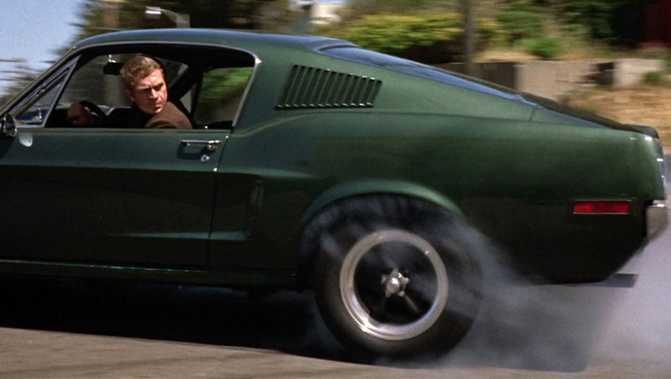 movies - 1968 Ford Mustang GT 390 Fastback as seen in Bullitt - Top 10 cars from the movies