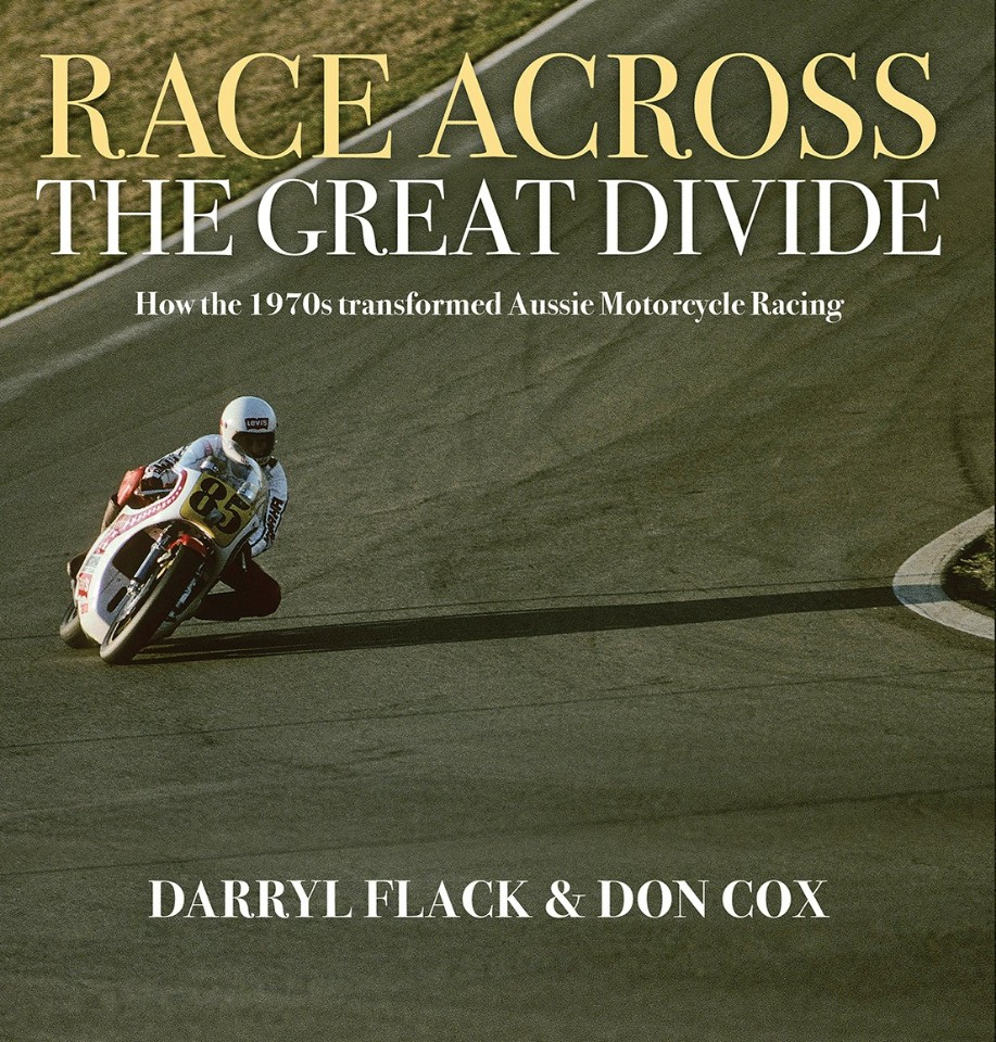 book chronicles australia's two-wheel talent - Cover Race Across The Great Divide - Book chronicles Australia's two-wheel talent