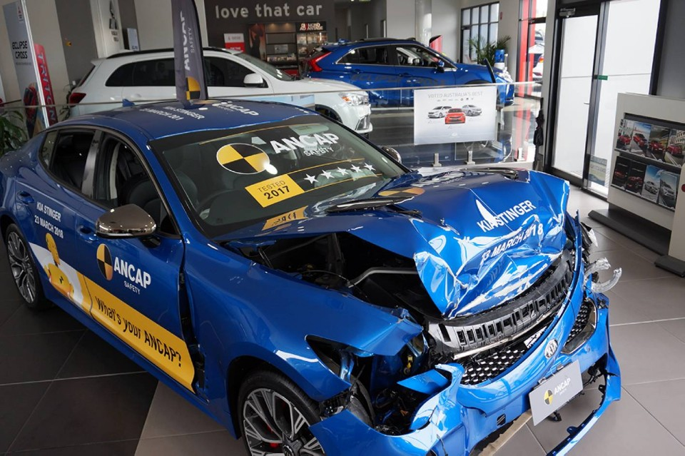 car wrecks join new ones to promote safety - ancap wreck - Car wrecks join new ones to promote safety