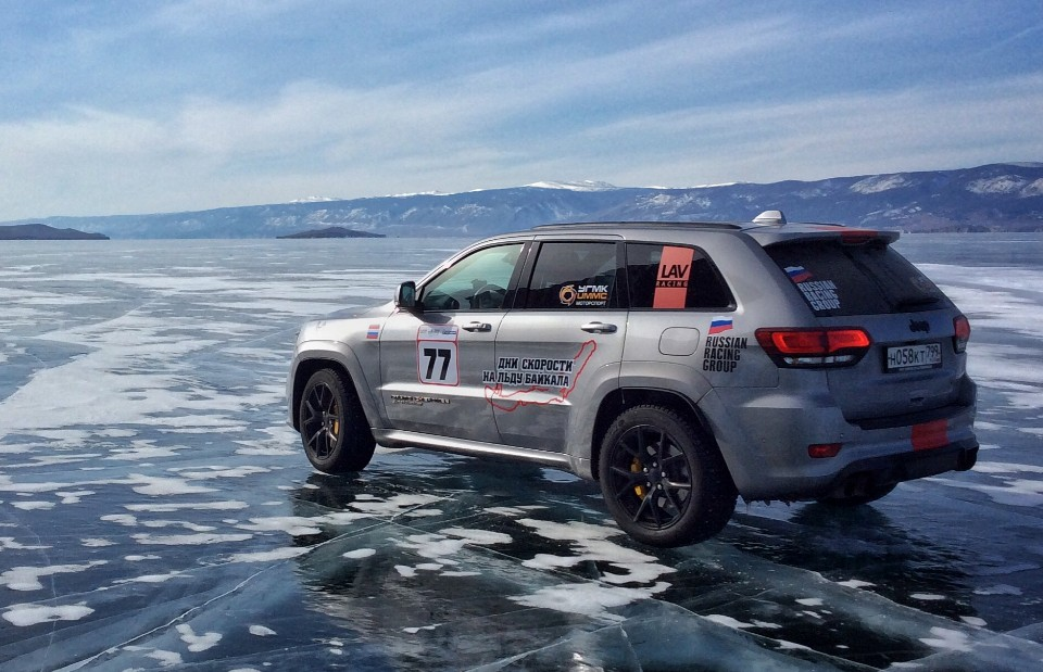 jeep - jeep grand cherokee trackhawk 2 - Ice cool Jeep skates to slippery record