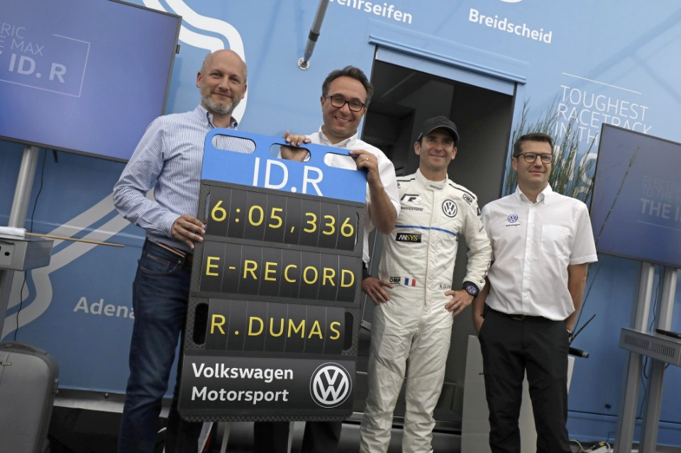 VW claims electric record for Nurburgring