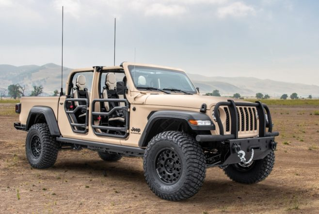jeep - Jeep Gladiator Extreme Military Grade Truck 01 658x442 - Military-grade Jeep a bit ho Hummer