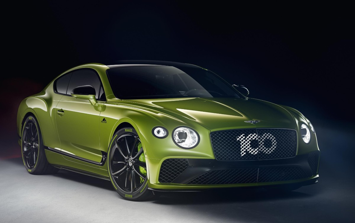 Bentley celebrates record with green monster