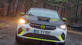 Electric rally car undergoes testing