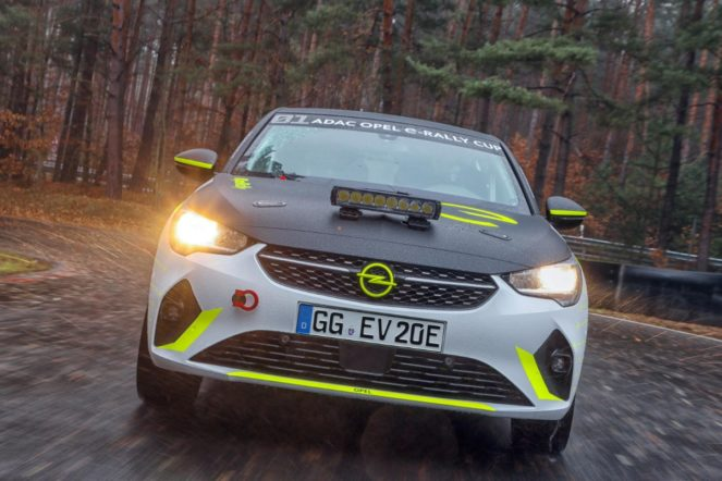 rally - Opel electric rally car 04 663x442 - Electric rally car undergoes testing