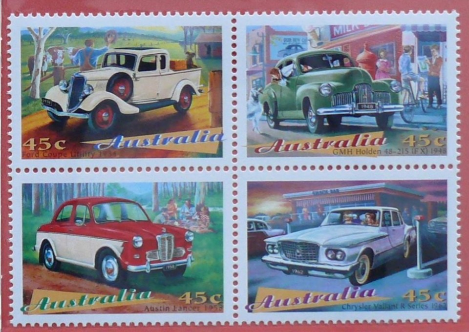 1997 australia post classic car stamp pack