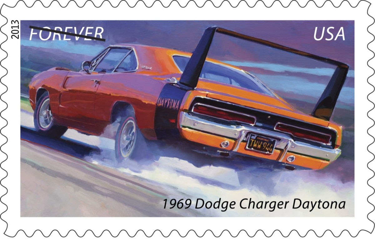 Dodge Charger Daytona stamp
