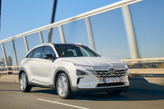 Hyundai Nexo hydrogen powered fuel cell electric vehicle 1