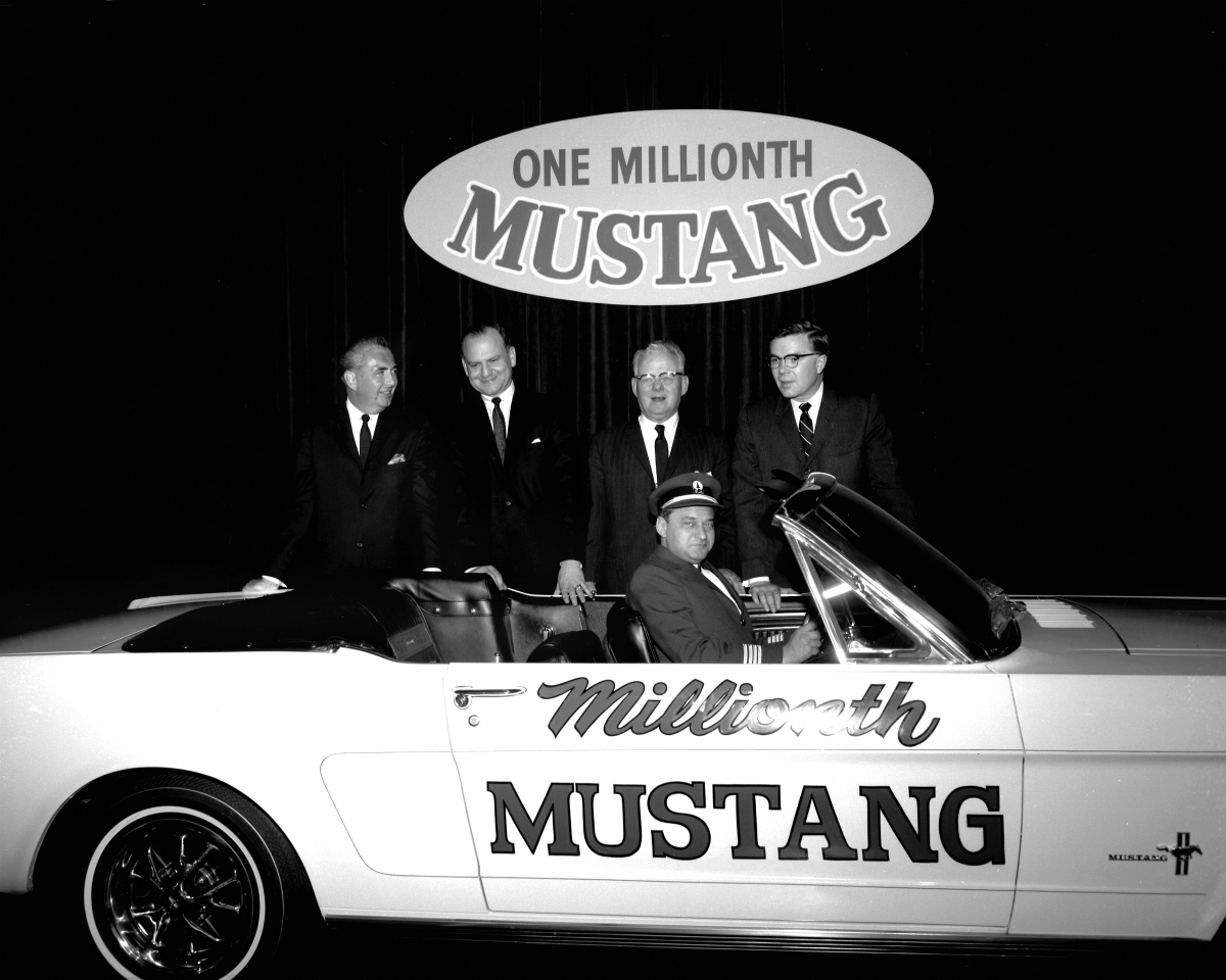 Captain Tucker and one millionth Mustang