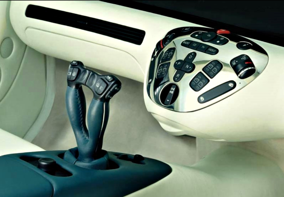 In 1996 Mercedes developed steering from the left or right front seats