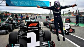 Simply the best — Lewis jumps for joy