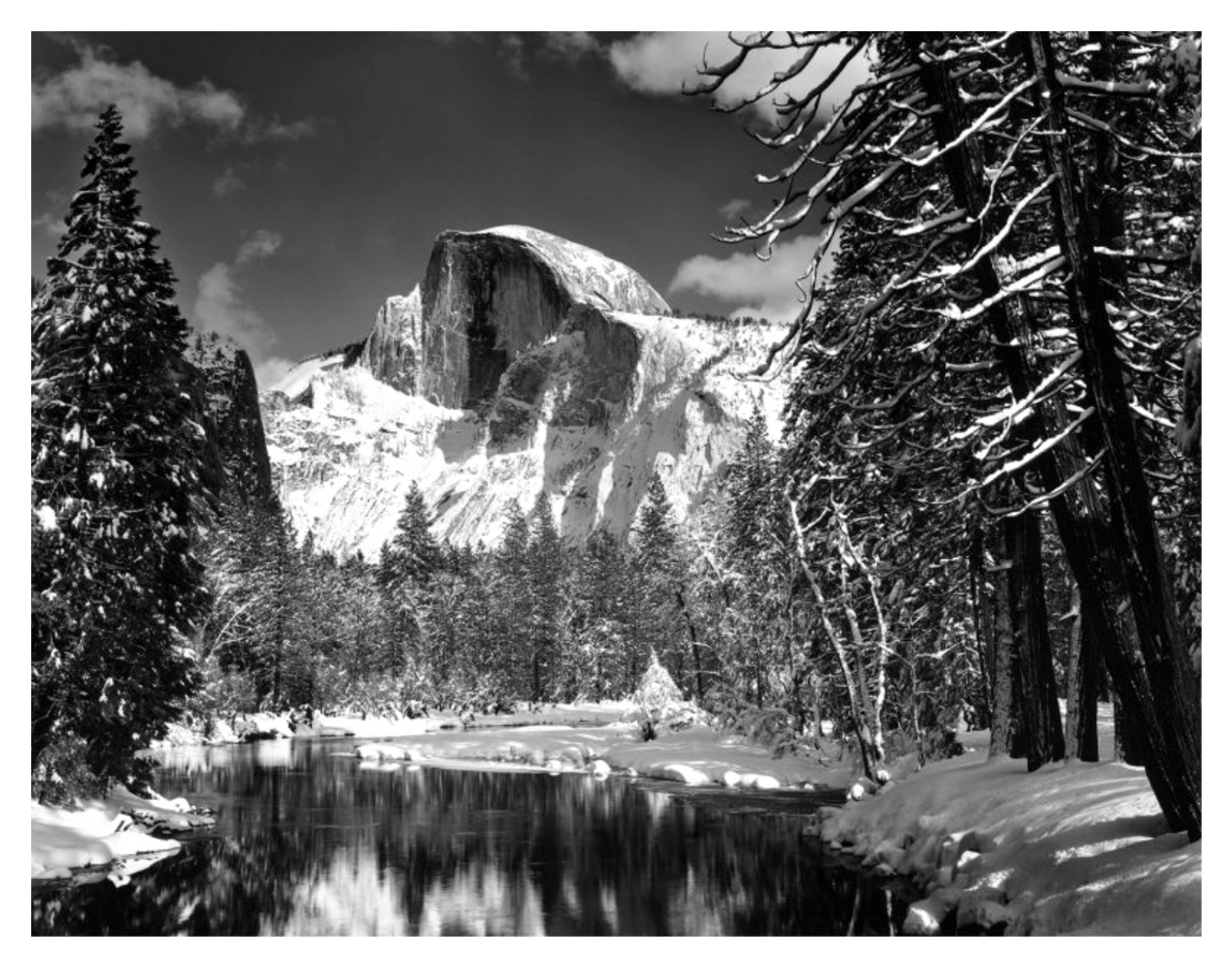 Ansel Adams Half Dome Merced River