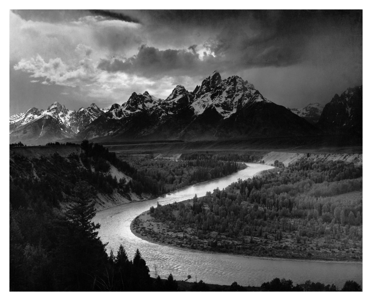 The Tetons and the Snake River 1942