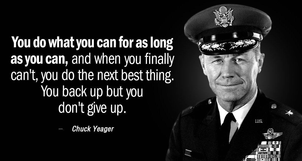 Chuck Yeager Quotation