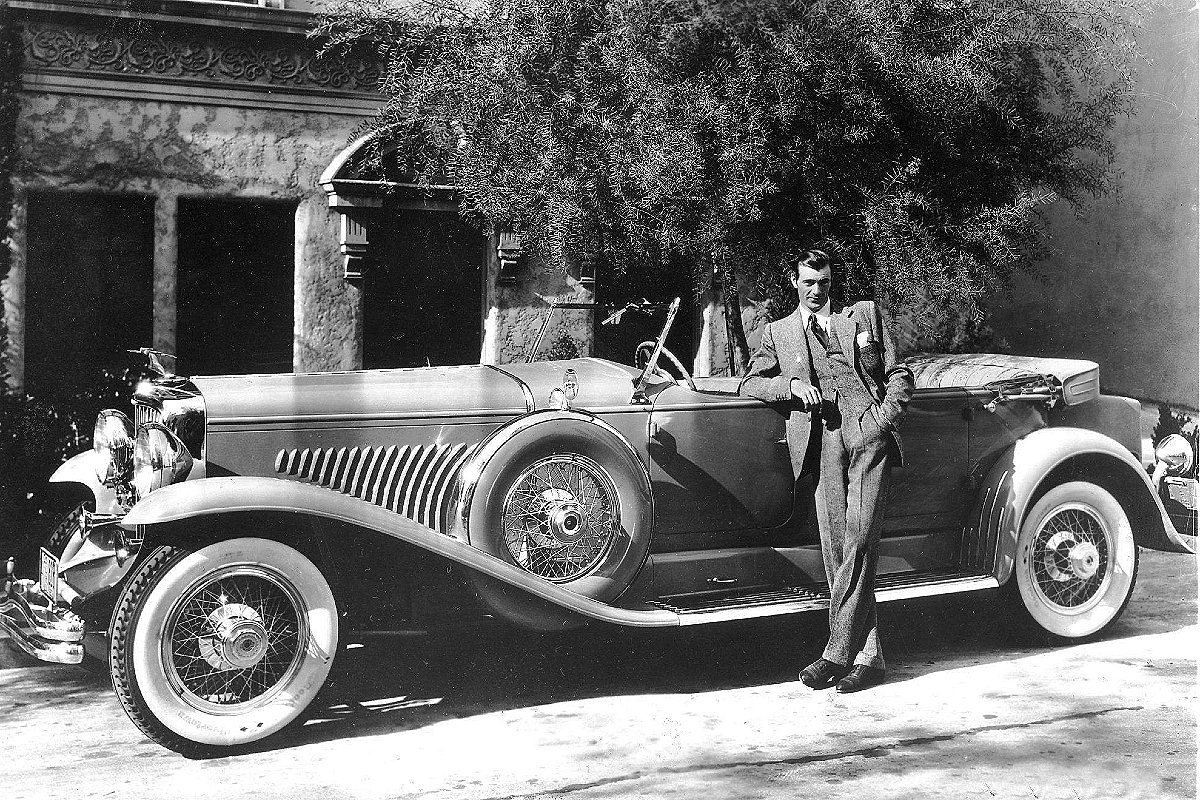 Gary Cooper and his Duesenberg