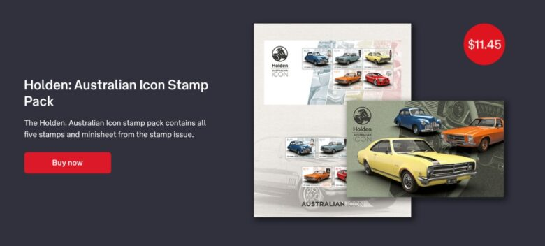 Holden Australian Icon Stamp Pack 780x352 - Holden stamps celebrate passing of an icon