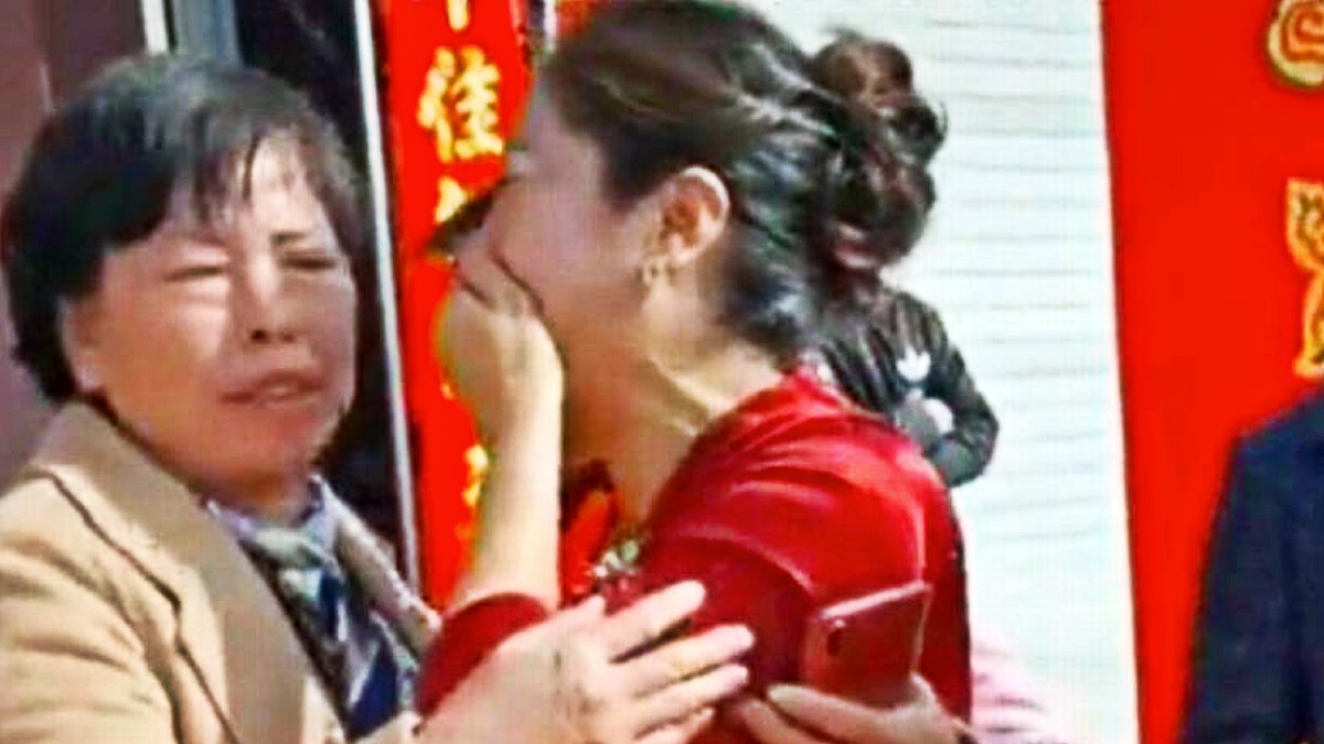 Wedding shock as bride turns out to be daughter