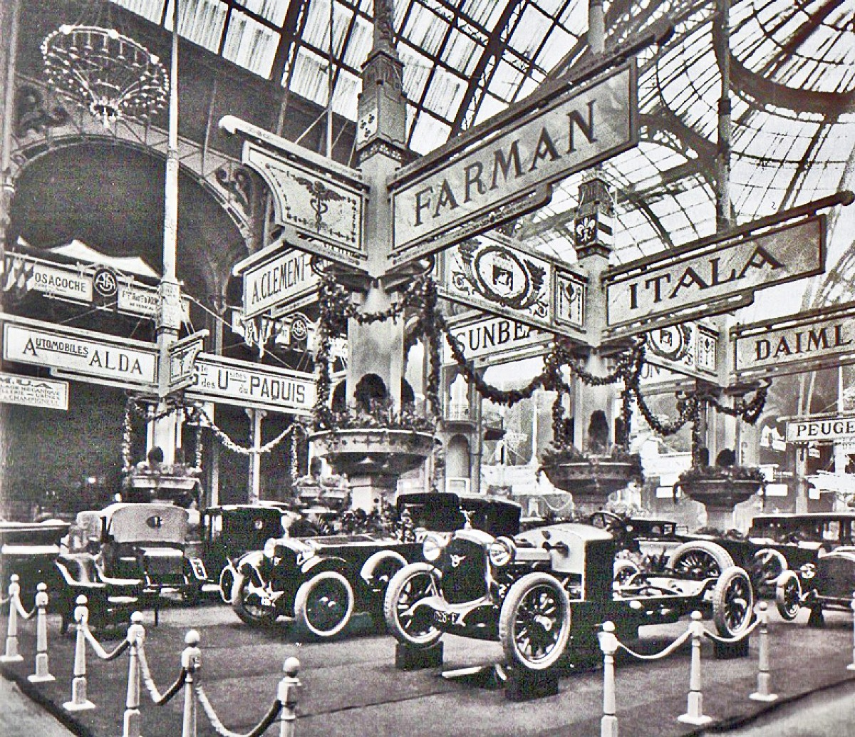 1919 First Farman exhibition stand at the Grand Palais in Paris