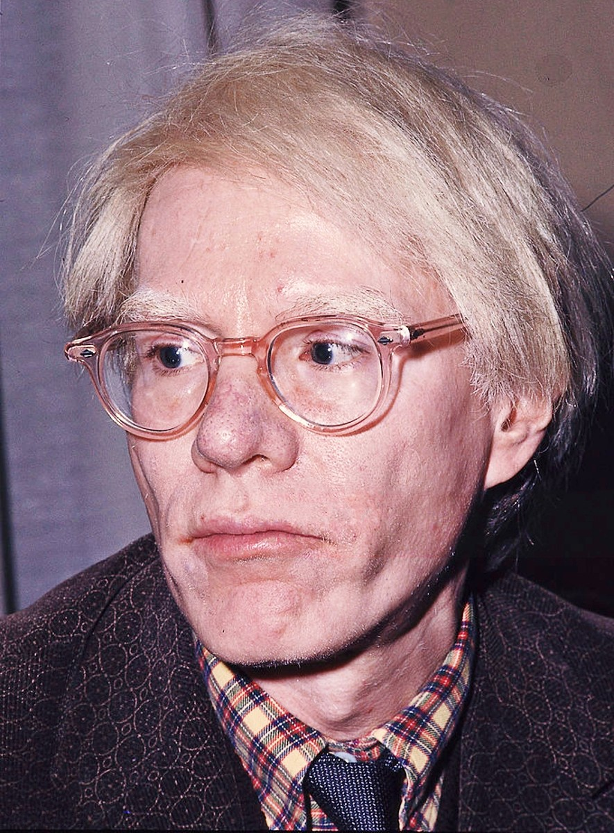 Andy Warhol pictured in 1975