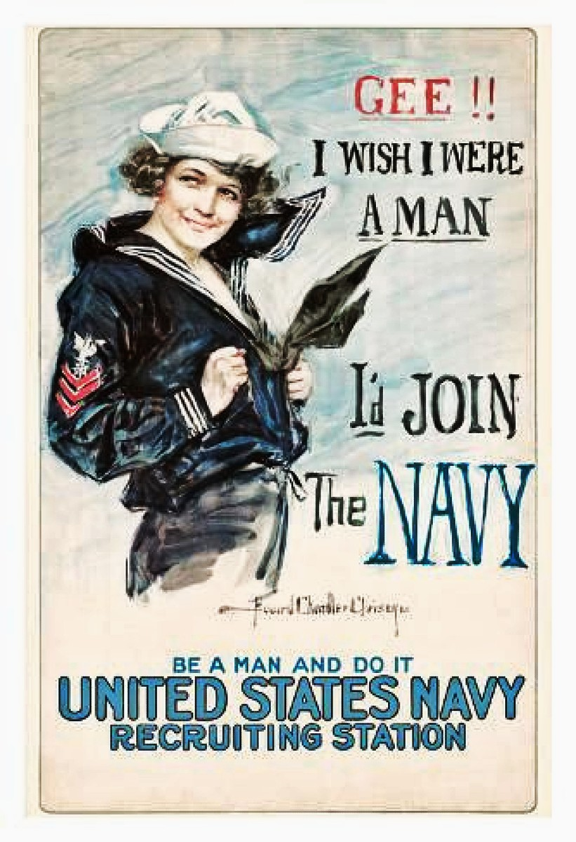 Giclee Print Gee I Wish I were a Man Id Join the Navy by Vintage Reproduction