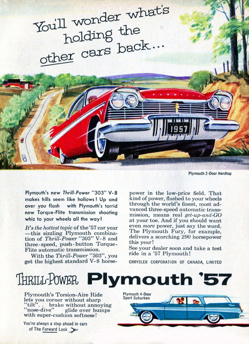 1957 Plymouth with Torque Flite