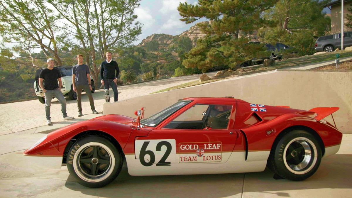 Ant Anstead Jenson Button and Mark Stubbs with the original Type 62
