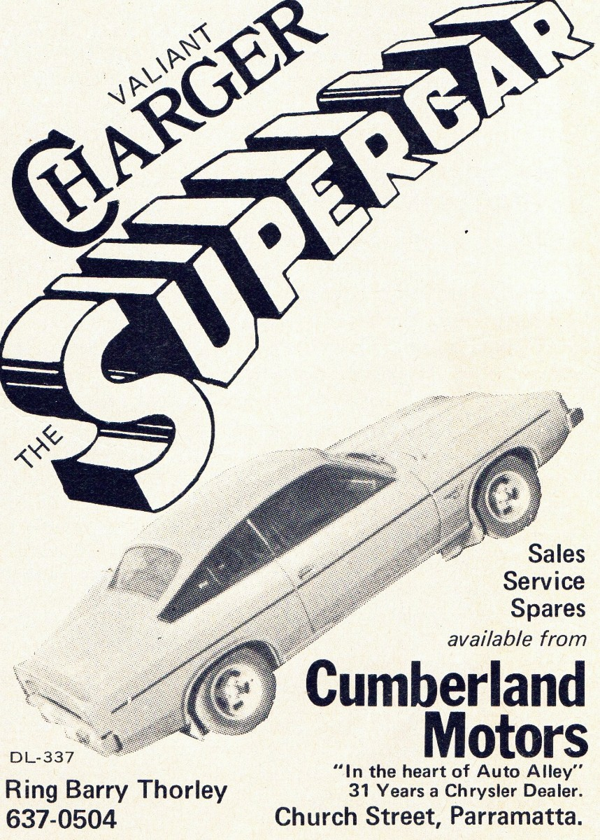 Charger newspaper advertisement