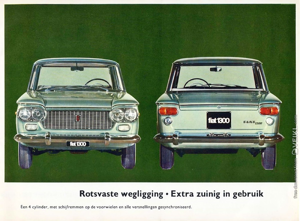 1961 Fiat 1300 and 1500 Brochure